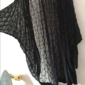 Rachel Roy festival feather pattern shawl cardigan